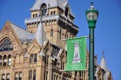 Quadrado histórico de Clinton, Siracusa, New York Imagem de Stock Royalty Free