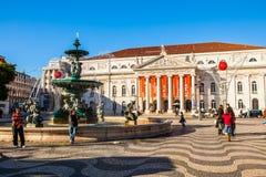 Quadrado Lisboa de Rossio, Portugal Imagem de Stock Royalty Free