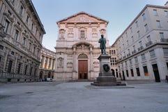 Quadrado Milão da baixa Italy de San Fedele Fotos de Stock Royalty Free