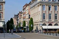 Quadrado na estação em Louvain (Bélgica) Imagem de Stock Royalty Free