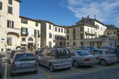 Quadrado no centro de Lucca, Itália foto de stock royalty free