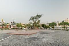 Quadrado no grande círculo árabe da revolta no amanhecer foto de stock