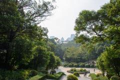 Quadrado no parque da cidade de Guangzhou, China foto de stock