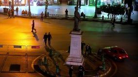 quadrado ocupado de Talaat Harb, o Cairo, Egito filme