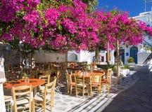 Quadrado pequeno em Mykonos Imagens de Stock Royalty Free