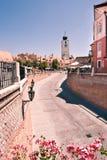 Quadrado pequeno em Sibiu Imagem de Stock