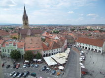 Quadrado pequeno (Piata Mica), Sibiu Imagens de Stock