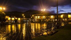 Quadrado principal de Cusco fotografia de stock