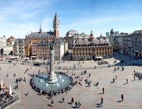 Quadrado principal de Lille, France foto de stock