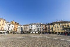 Quadrado principal de Lodi, Itália Fotografia de Stock