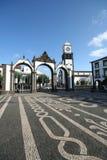 Quadrado principal de Ponta Delgada imagens de stock