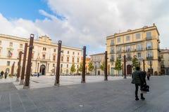 Quadrado principal em Potenza, Itália Foto de Stock