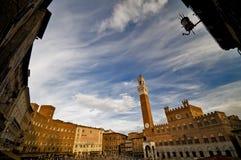 Quadrado principal em Siena, Italy Fotos de Stock Royalty Free