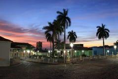 Quadrado principal em trinidad, Cuba fotografia de stock