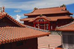 Quadrado principal no castelo de Shuri fotografia de stock