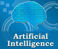 Quadrado Techy do fundo da inteligência artificial Fotografia de Stock Royalty Free
