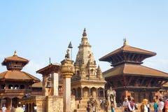 Quadrado Vatsala Durga Angled H de Bhaktapur Durbar Fotos de Stock Royalty Free