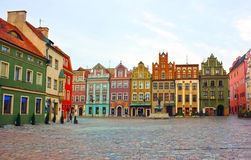 Quadrado velho de Poznan, Poland Fotografia de Stock
