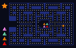Quadrado velho do jogo de vídeo Fotografia de Stock Royalty Free