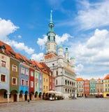 Quadrado velho do mercado em Poznan, Poland fotografia de stock