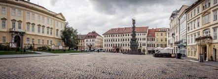 Quadrado velho em Teplice fotos de stock royalty free
