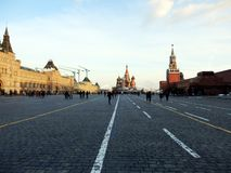 Quadrado vermelho de Moscou no inverno fotografia de stock royalty free