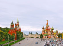 Quadrado vermelho em Moscovo, Federação Russa. fotos de stock royalty free