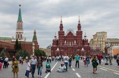 Quadrado vermelho interno em Moscou foto de stock royalty free