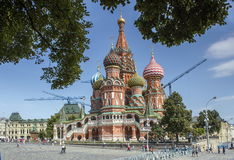 Quadrado vermelho Moscovo foto de stock