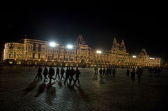 Quadrado vermelho na noite Imagens de Stock Royalty Free