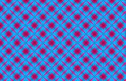 Quadrado vermelho que repete o projeto azul geom?trico do teste padr?o ilustração do vetor