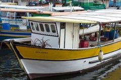 Fishing boats in Quadrado da Urca royalty free stock photography