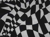 Quadrados brancos sobre a textura preta do fundo Fotografia de Stock Royalty Free