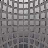 Quadrados côncavos cinzentos Foto de Stock Royalty Free
