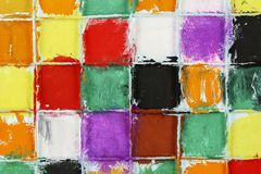 Quadrados coloridos Fotos de Stock Royalty Free