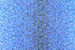 Quadrados coloridos azuis do mosaico Foto de Stock