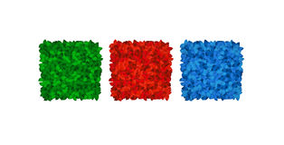 Quadrados coloridos da folha Imagem de Stock Royalty Free