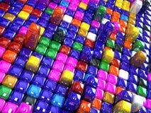 Quadrados com cores e perspectiva diferentes Imagens de Stock