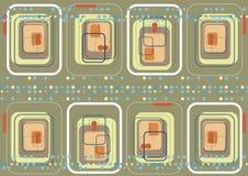 Quadrados cor-de-rosa & pontos azuis ilustração royalty free