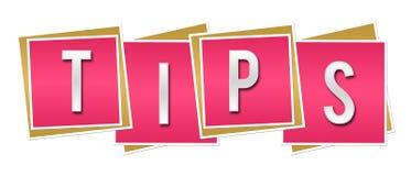 Quadrados cor-de-rosa das pontas Fotos de Stock Royalty Free