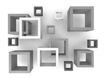 Quadrados 3D abstratos Imagens de Stock Royalty Free