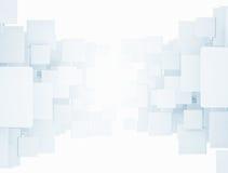 Quadrados 3d abstratos Fotografia de Stock