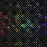 Quadrados de incandescência do arco-íris abstrato do mosaico. Imagem de Stock Royalty Free