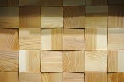 Quadrados de madeira textura e fundo Fotos de Stock