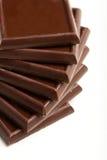 Quadrados do chocolate Imagem de Stock