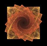 Quadrados do Fractal na espiral Fotos de Stock Royalty Free