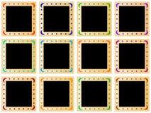 Quadrados dourados coloridos Fotografia de Stock Royalty Free