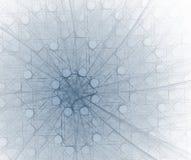 Quadrados e círculos - no azul Fotografia de Stock Royalty Free