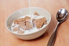 Quadrados e leite Malted Imagens de Stock