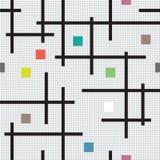 Quadrados e linhas geométricos coloridos abstratos das formas no fundo claro Imagem de Stock